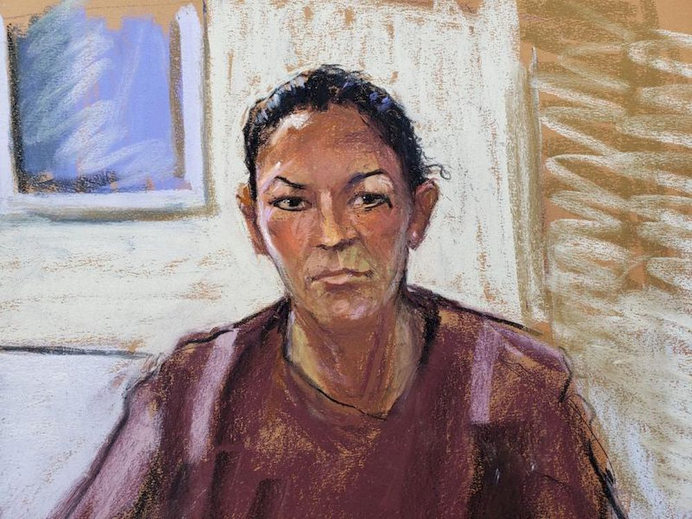 Ghislaine Maxwell appears via video link during her July 14, 2020, arraignment hearing, in Manhattan Federal Court, New York, in this courtroom sketch. — Reuters/Jane Rosenberg pic