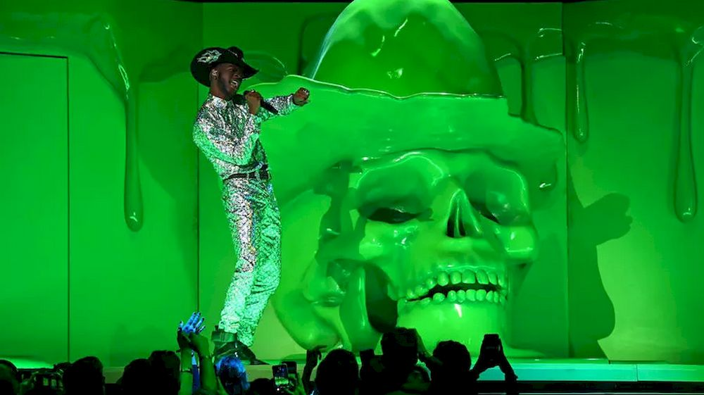 Lil Nas X, shown here performing during the 2020 Grammys, has triggered controversy for his lusty new music video and a collaboration to produce 'Satan Shoes'. — AFP pic