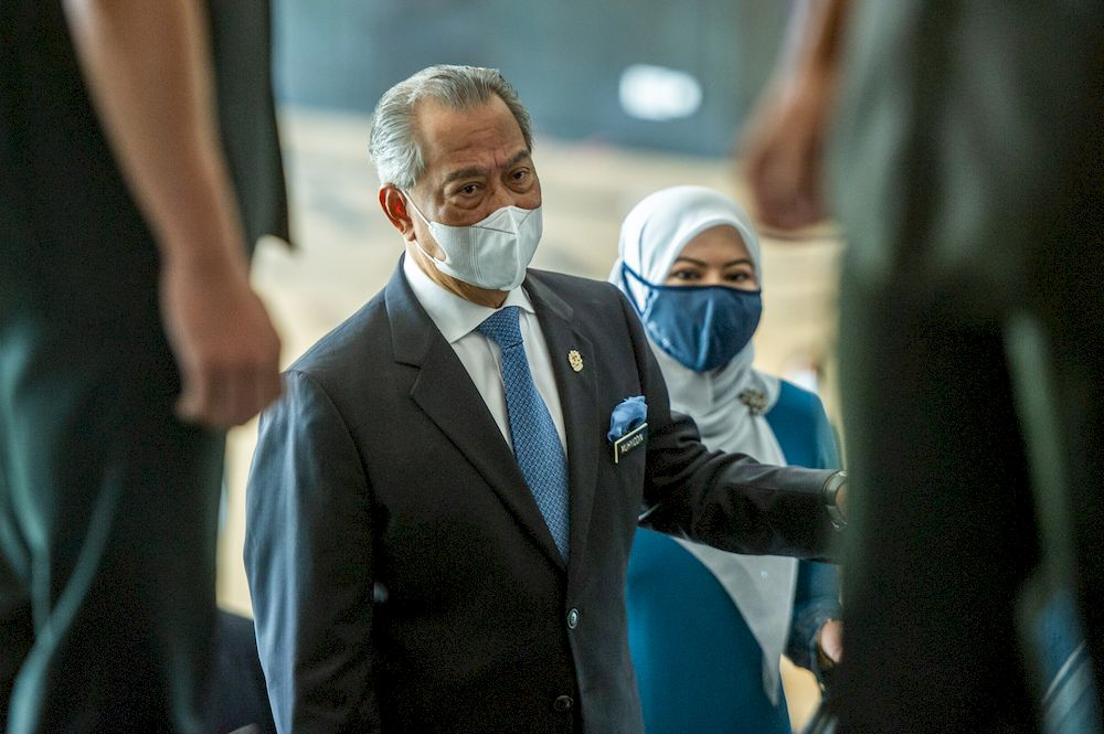 Muhyiddin said the concept of learning should not be confined within the four walls of a room. — Picture by Shafwan Zaidon