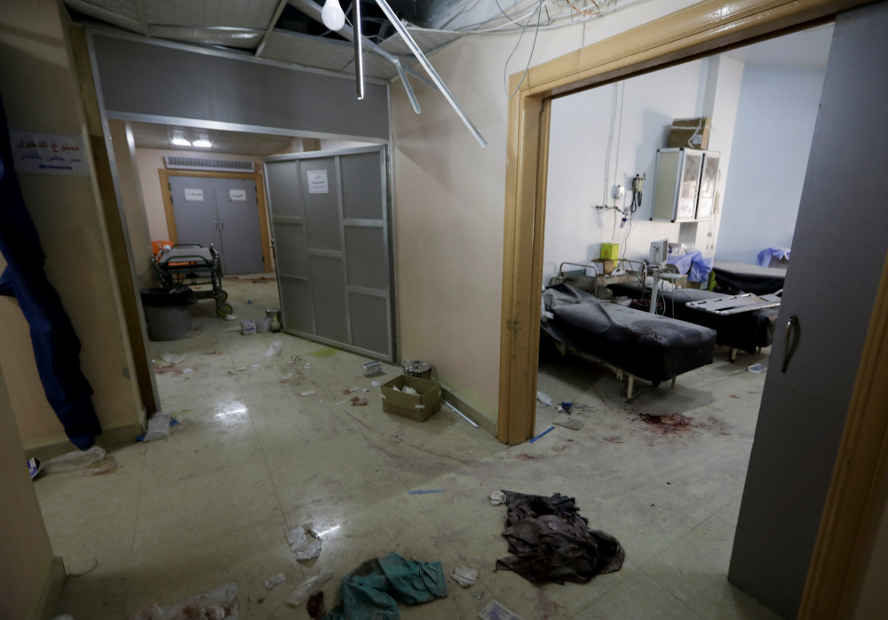 A view shows the damage at a hospital in a rebel-held town of Atareb in north-western Syria, March 21, 2021. — Reuters pic