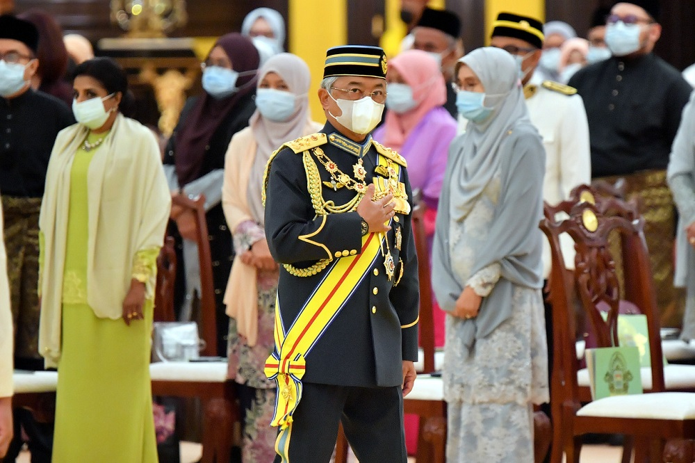 Yang di-Pertuan Agong Al-Sultan Abdullah Ri'ayatuddin Al-Mustafa Billah Shah also touched on the close bilateral relations that have been established over the years between Malaysia and Turkey as well as efforts to strengthen trade between the two countries. ― Bernama pic