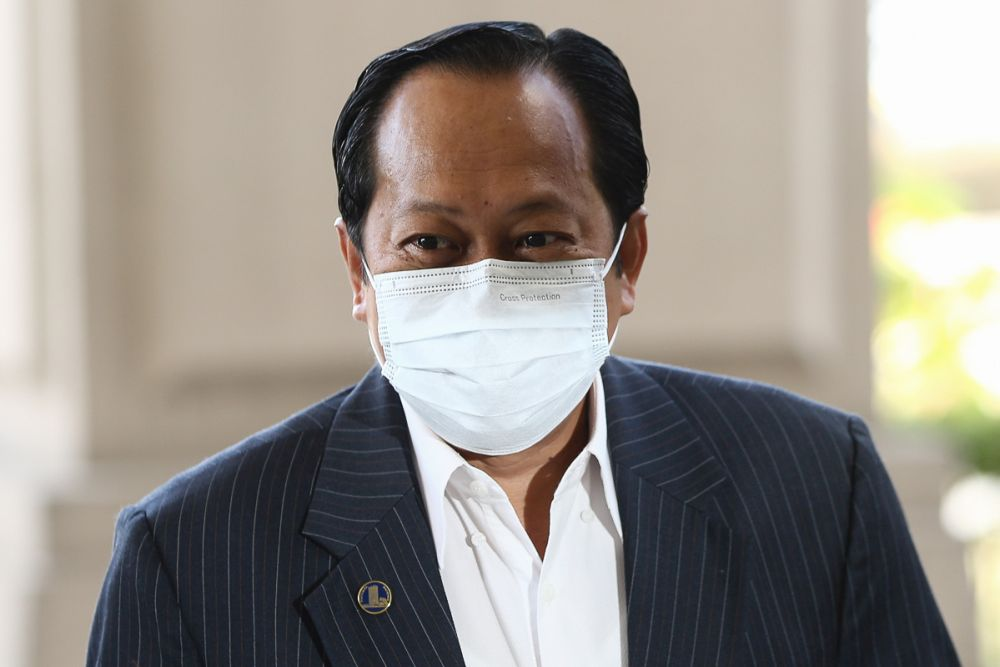 Umno secretary-general Datuk Seri Ahmad Maslan has reportedly been named as the sole candidate for the Dewan Rakyat Deputy Speaker post. — Picture by Yusof Mat isa