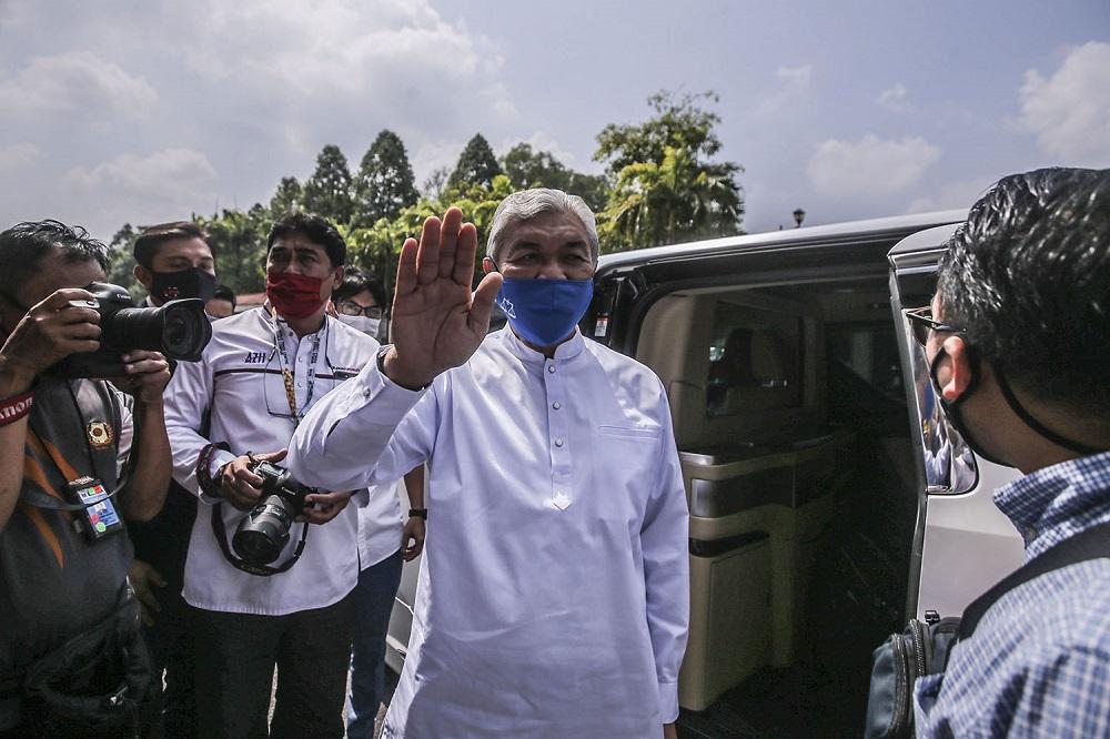 Former deputy prime minister Datuk Seri Ahmad Zahid Hamidi is pictured at the Kuala Lumpur Court Complex March 19, 2021. ― Photo by Hari Anggara