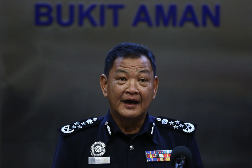Inspector-General of Police Tan Sri Abdul Hamid Bador said investigating officers were waiting for the right time to call them up to record their statements. — Picture by Yusof Mat Isa