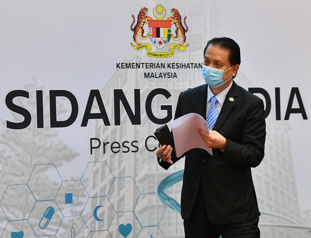 Health director-general Tan Sri Dr Noor Hisham Abdullah during a media conference on Covid-19 development in Putrajaya, March 4, 2021. — Bernama pic