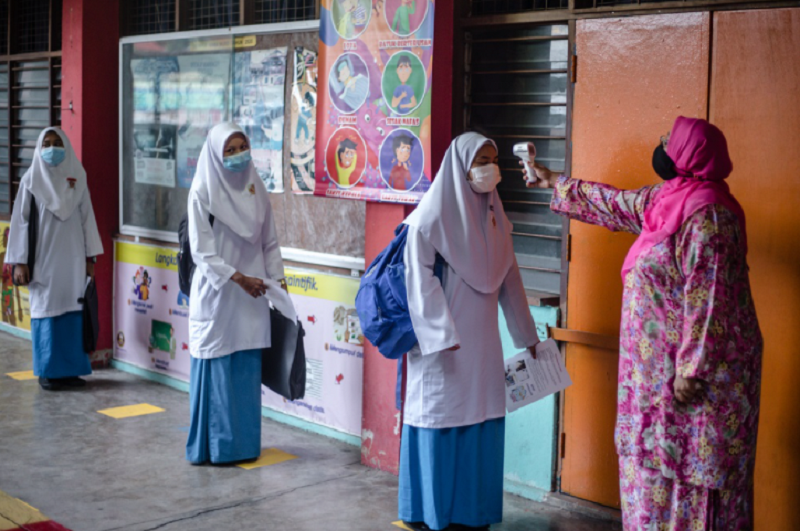 Senior Education Minister Datuk Mohd Radzi Md Jidin recently announced that schools would reopen on October 3, with the first phase involving students of Forms Five and Six. ― Picture by Firdaus Latif