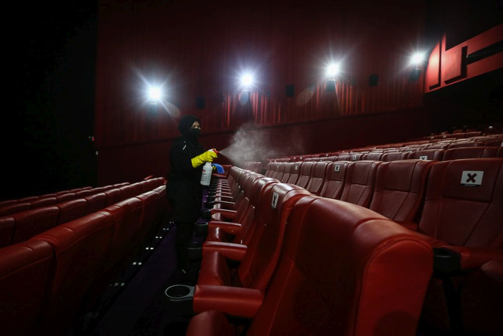 Cinema operations are still on the negative list during the MCO. — Picture by Yusof Mat Isa
