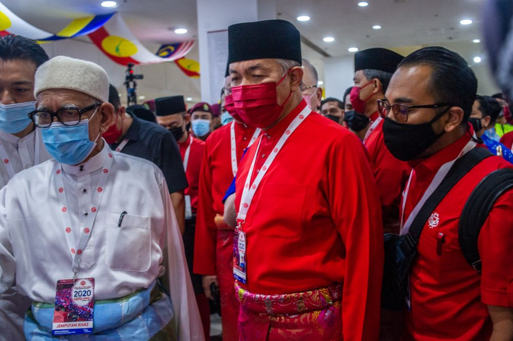 PAS president Datuk Seri Abdul Hadi Awang said negotiations with Umno would continue after the party has a clear decision or direction on its cooperation with Bersatu in the Perikatan Nasional (PN) in facing GE15.  — Picture by Shafwan Zaidon