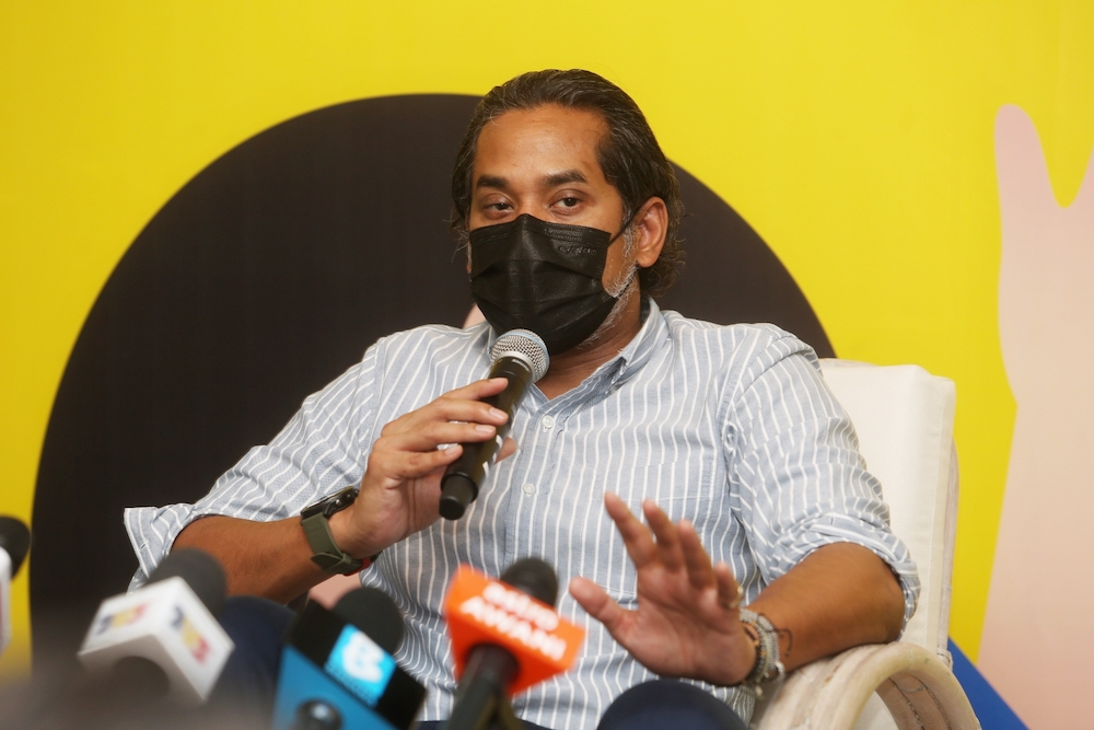 Khairy Jamaluddin said that once the variant spread, some of the vaccines will not be effective against it and the rate of virus transmission would go up. — Picture by Choo Choy May