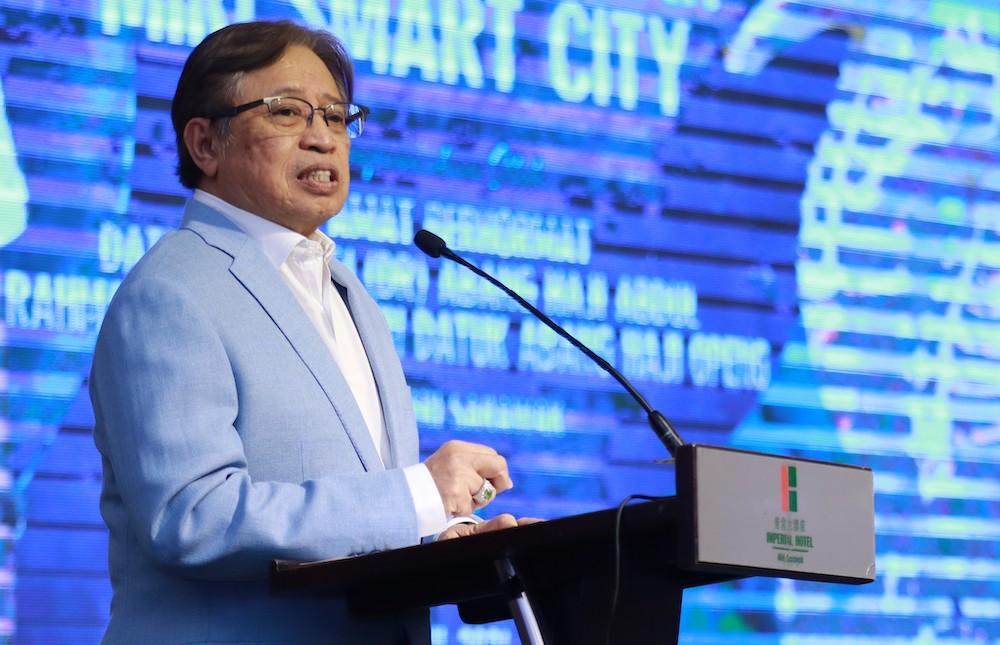 Abang Johari said Sarawak aspires to be a developed state by 2030. — Picturecourtesy of Sarawak Public Communications Unit (Ukas)