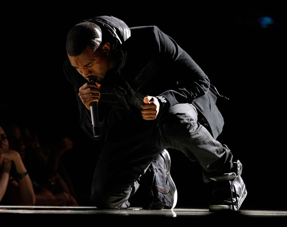 Kanye West performs onstage during the 50th annual Grammy awards held at the Staples Center on February 10, 2008 in Los Angeles, California. — AFP pic