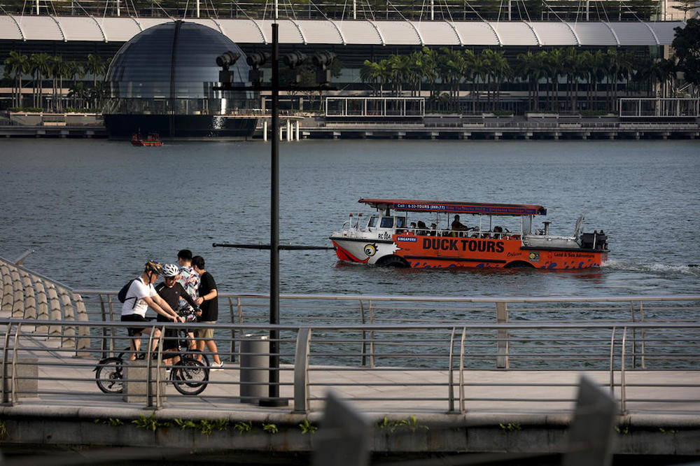 Restrictions on tour operators will ease from April 14, 2021, but safe distancing rules will still apply, the Singapore Tourism Board said. — TODAY pic