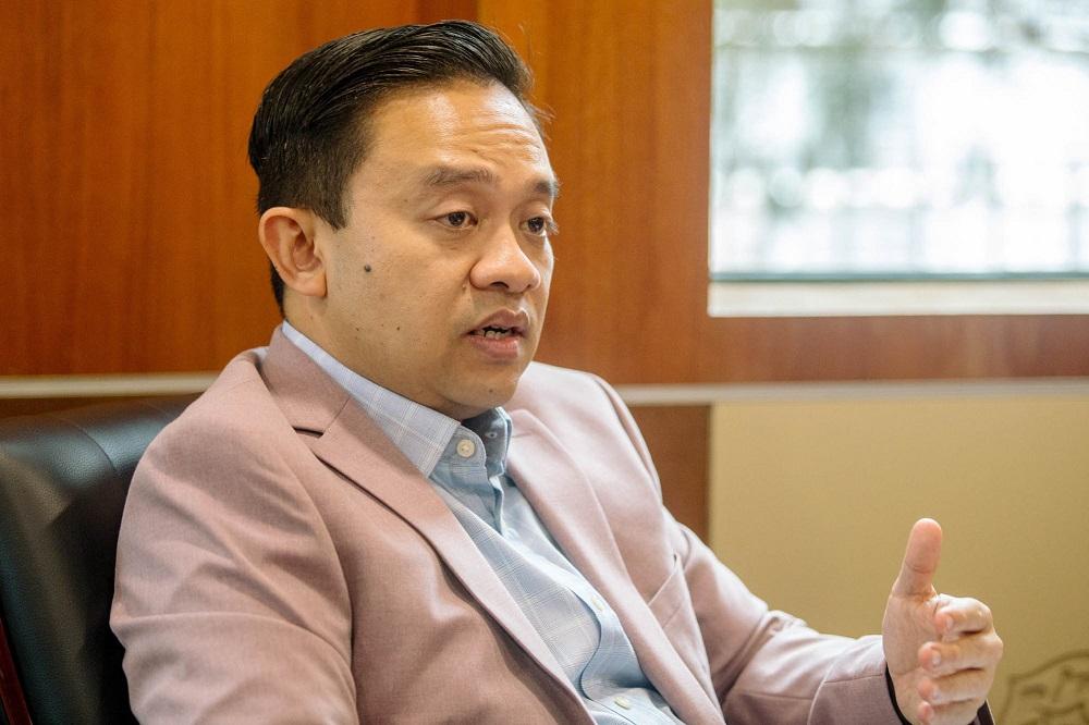 Bersatu Information Chief Datuk Wan Saiful Wan Jan speaks during an interview with Malay Mail in Kuala Lumpur April 7, 2021. — Picture by Firdaus Latif