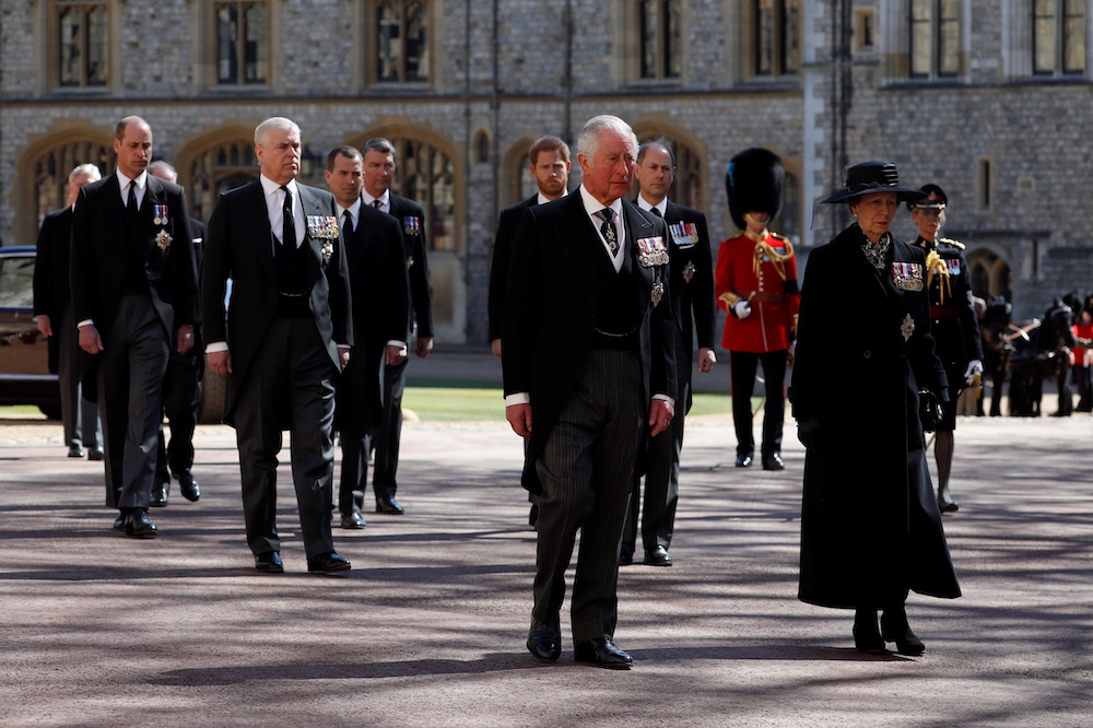 Britain's Prince Charles walks behind the hearse on the grounds of Windsor Castle during the funeral of Britain's Prince Philip, husband of Queen Elizabeth, who died at the age of 99, in Windsor, Britain, April 17, 2021. — Reuters pool pic