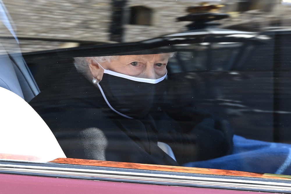 Britain's Queen Elizabeth attends the funeral of her husband, Britain's Prince Philip, who died at the age of 99, on the grounds of Windsor Castle in Windsor, Britain, April 17, 2021. — Reuters pool pic
