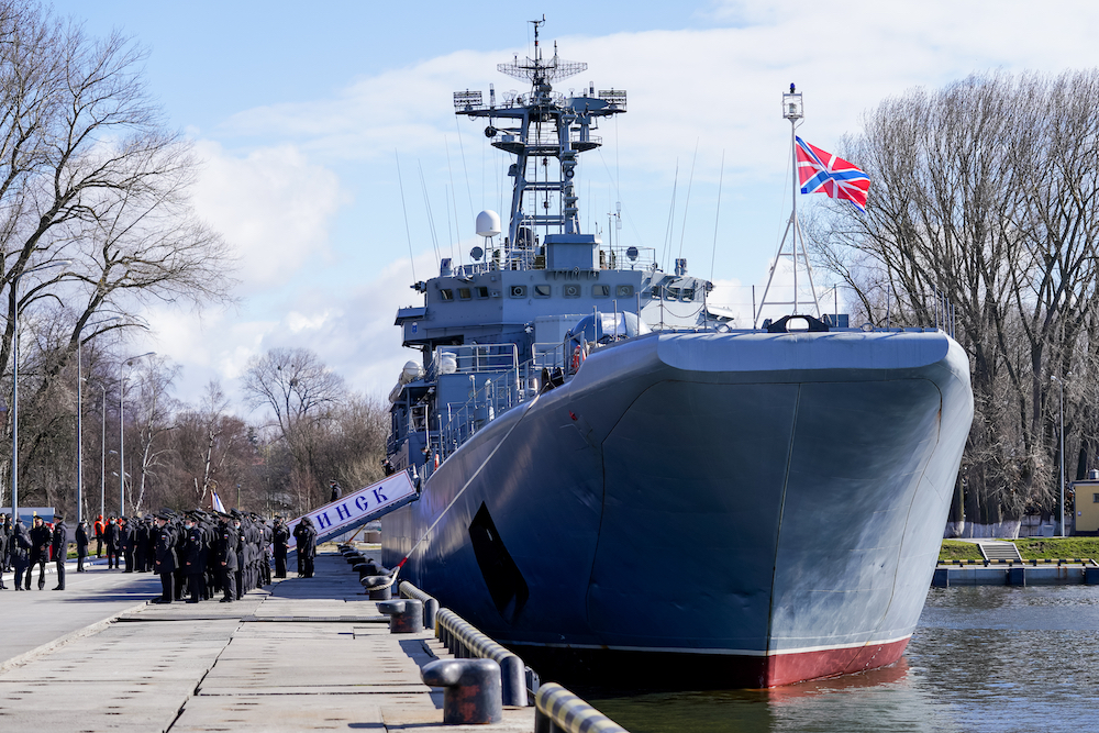 Russia has uppsed its naval presence as its relations with the West and Ukraine tense. — Vitaly Nevar/TASS via Rauters