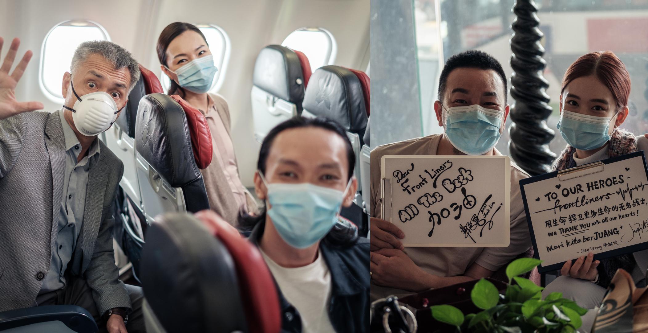 左图是周华坚(左起)、陈谕和陈俊权;右图是林德荣和梁祖仪。-图由阿细亚热带电影有限公司提供-