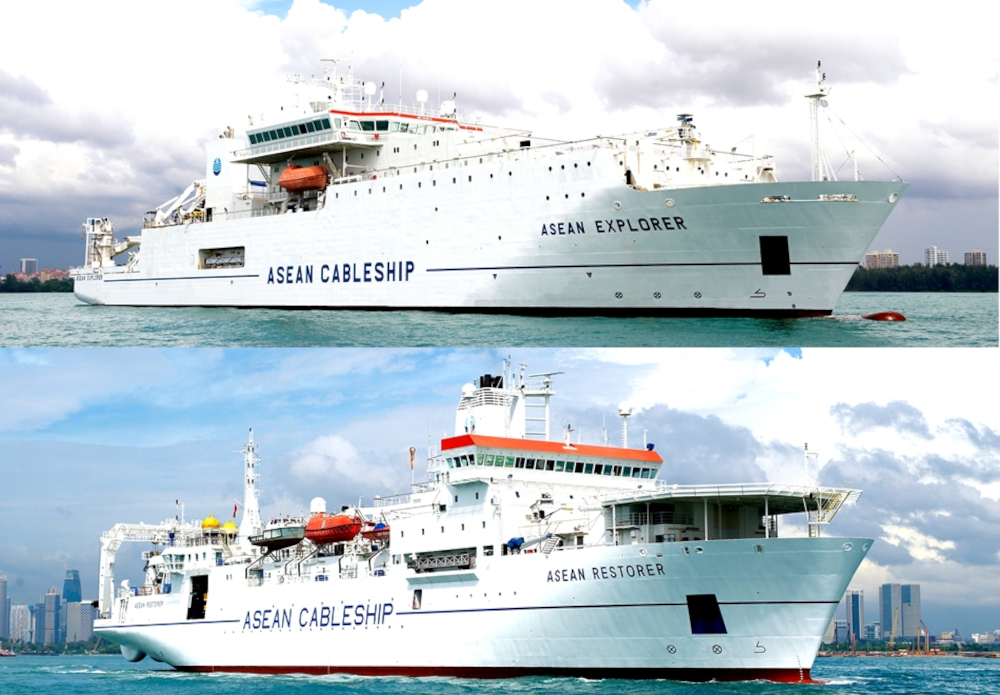 The core issue is the lack of required Malaysian-flagged vessels to carry out the undersea cable works. As a result, they had to rely on foreign vessels such as the Asean Explorer (Indonesian-flagged) and Asean Restorer (Singaporean-flagged) as pictured above. — Picture from Asean Cableship