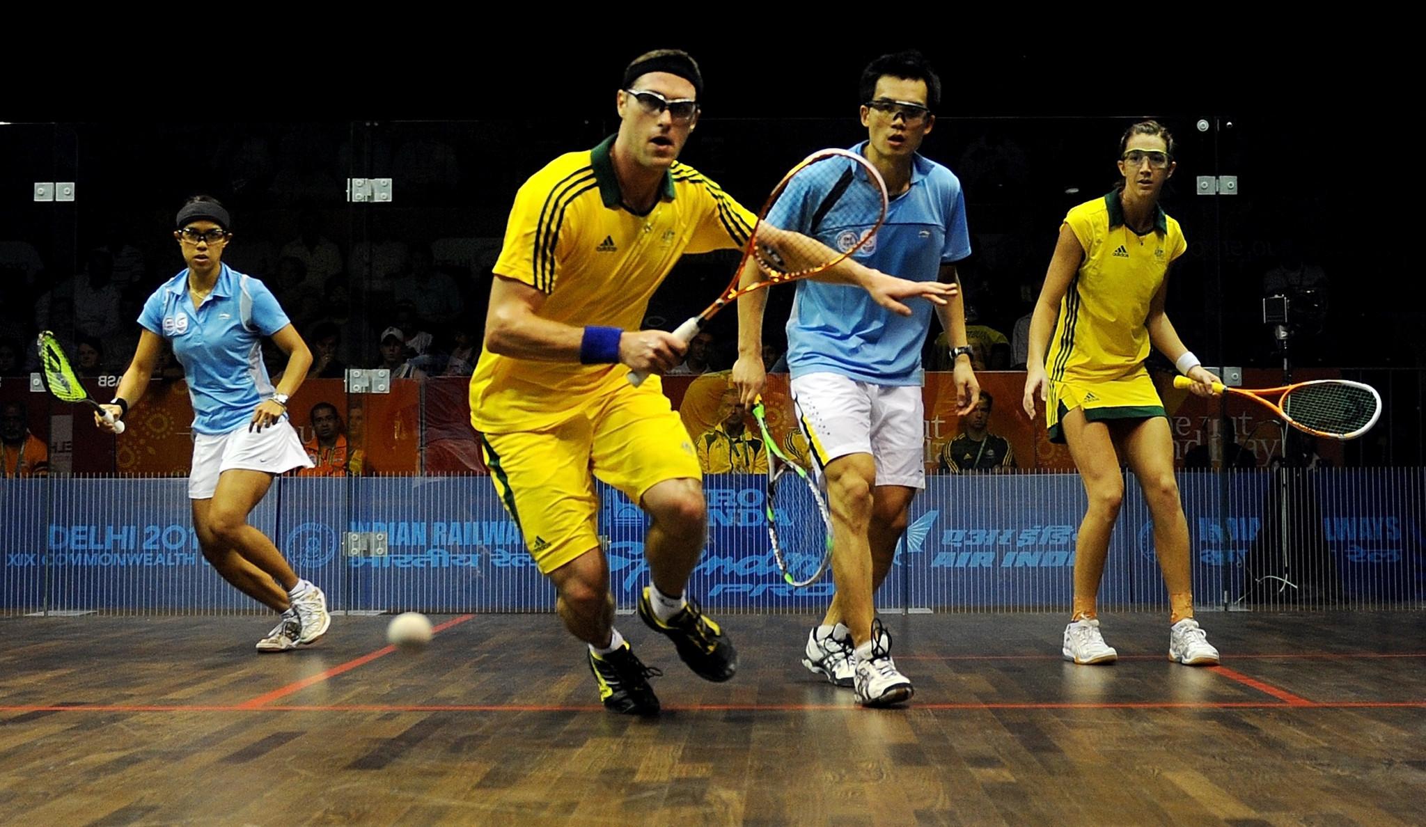 已退役的壁球天后妮歌大卫和王明喜,在2010年新德里共运会搭档征战混双,并拿下铜牌。-摘自网络-