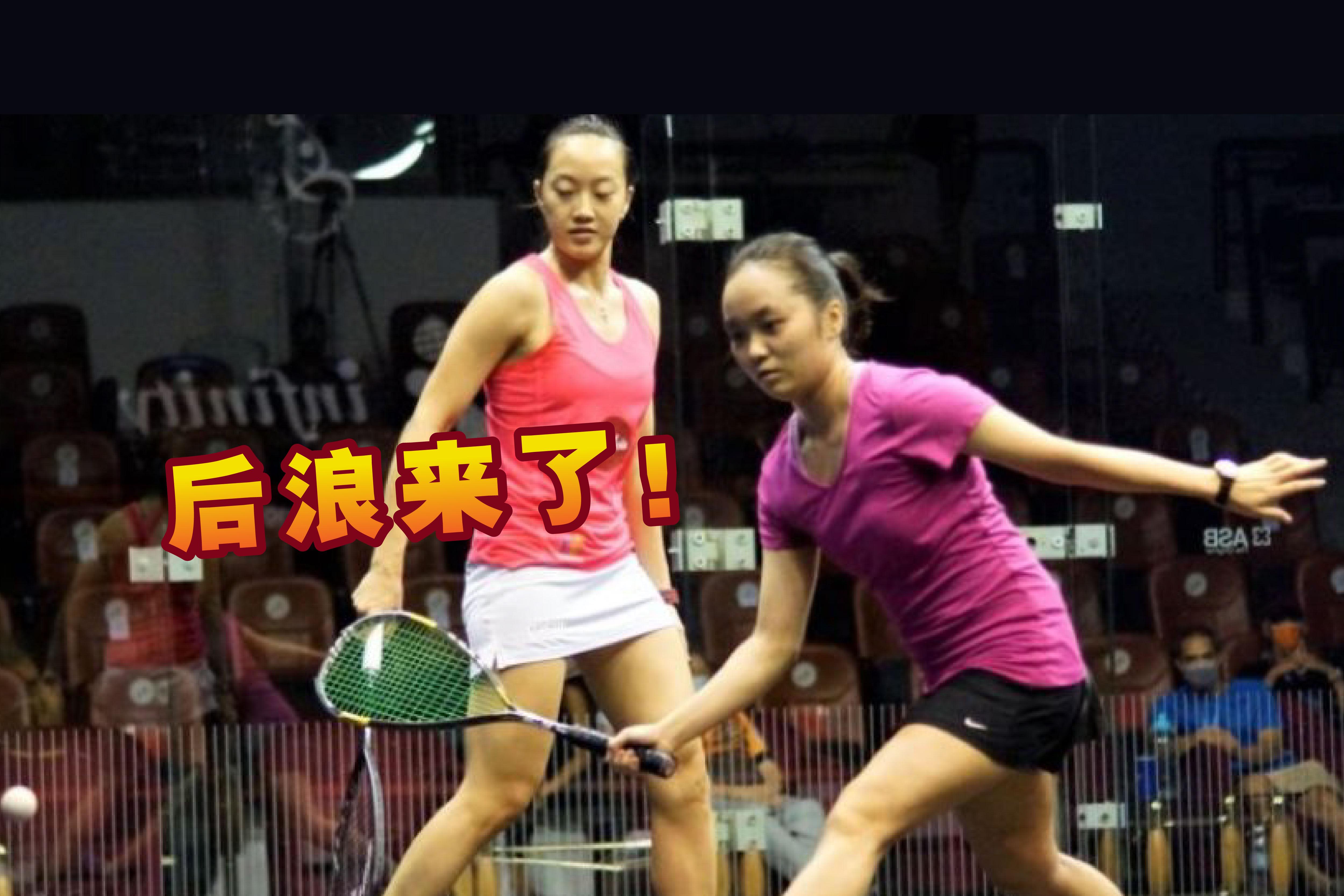 黄嘉恩(右)意外挫下大马壁球一姐刘薇雯挺进决赛。-摘自squashsite/精彩大马制图-