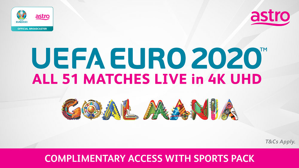 Uefa Euro 2020 complimentary for Astro Pack customers, will have all 51 matches live in 4K UHD. ― Photo courtesy of Astro