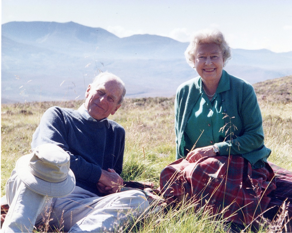 Handout image released by Buckingham Palace of a personal photograph of the Britain's Queen Elizabeth II and Prince Philip, the Duke of Edinburgh at the top of the Coyles of Muick obtained by Reuters on April 16, 2021. ― Handout via Reuters