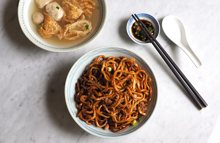 Slurp down these lovely handmade noodles tossed with dark sauce, lard and minced meat for a satisfying breakfast or lunch — Pictures by Lee Khang Yi