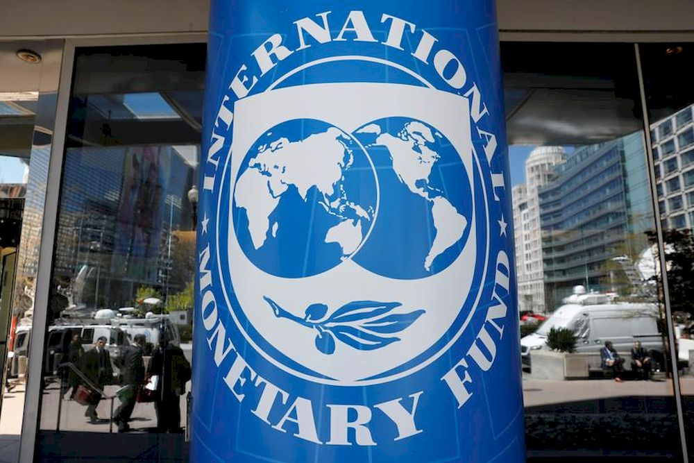 International Monetary Fund logo is seen outside the headquarters building during the IMF/World Bank spring meeting in Washington, US, April 20, 2018. — Reuters pic