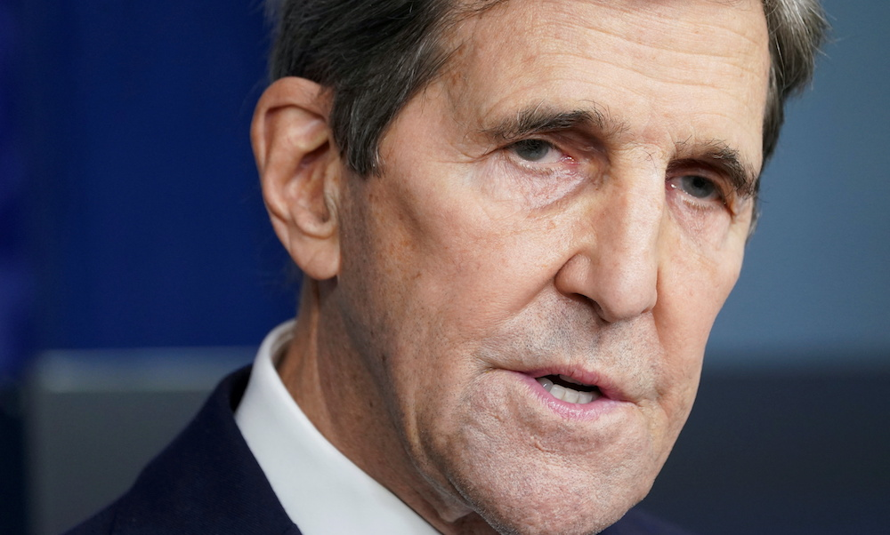 File photo of US climate envoy John Kerry speaking at a press briefing at the White House in Washington, US, January 27, 2021. — Reuters pic