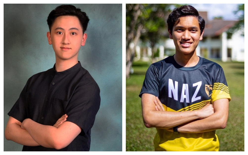Both Cheong (left) and Muhammad Hamdi will be admitted into Harvard University's class of 2025. ― Picture via Twitter/NadiahWan