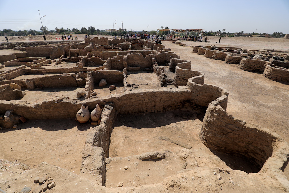 A view of the site of the 'Lost Golden City', which was recently discovered by archaeologists, in the West Bank of Luxor, Upper Egypt, April 10, 2021. — Reuters pic