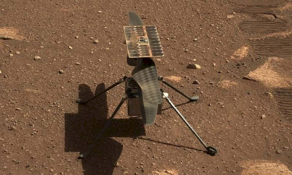 A high-speed test of Nasa's Mars mini-helicopter's rotors ended earlier than expected due to an alert of a potential issue. — AFP file pic