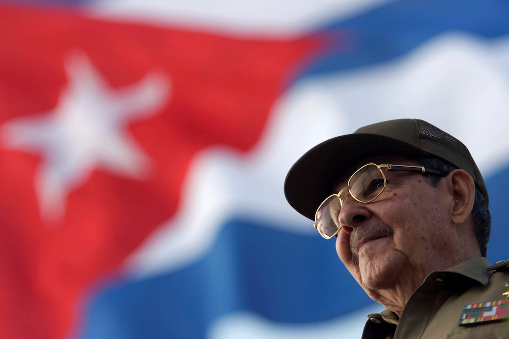 Cuba's President Raul Castro attends the May Day parade at Havana's Revolution Square May 1, 2008. — Reuters pic