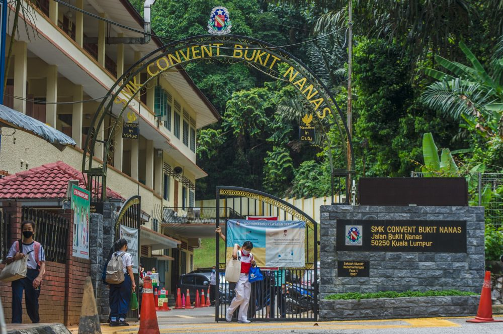On April 22, the government agreed to extend the land lease for SMK Convent Bukit Nanas by 60 years upon its expiry on September 6 this year. — Picture by Shafwan Zaidon