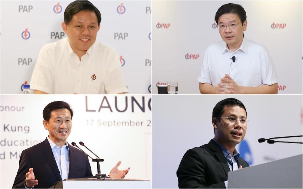 Clockwise from top left: Mr Chan Chun Sing, Mr Lawrence Wong, Mr Desmond Lee and Mr Ong Ye Kung. Political observers said the capabilities of these four ministers would be tested after the latest Cabinet reshuffle. — TODAY pic