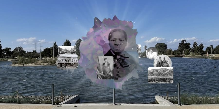 Ada Pinkston created the virtual artwork 'The Open Hand is Blessed' as part of an artistic partnership between LCAMA and Snap Inc. — ETX Studio