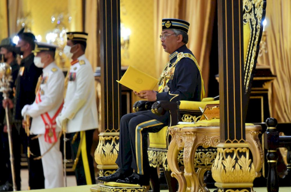 Malay Mail learnt that the Yang di-Pertuan Agong wishes to personally ask top political leader opinions as the country's Covid-19 situation went from bad to worse. — Bernama file pic