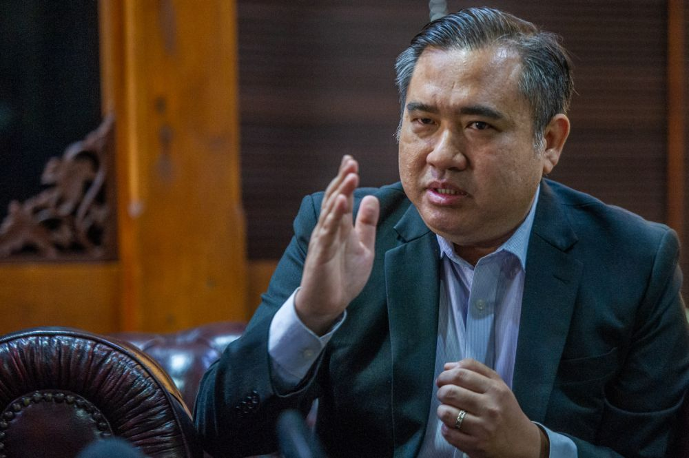 Anthony Loke speaks during a talk with The National Professors Council at Country Heights, Kajang April 13, 2021. — Picture by Shafwan Zaidon