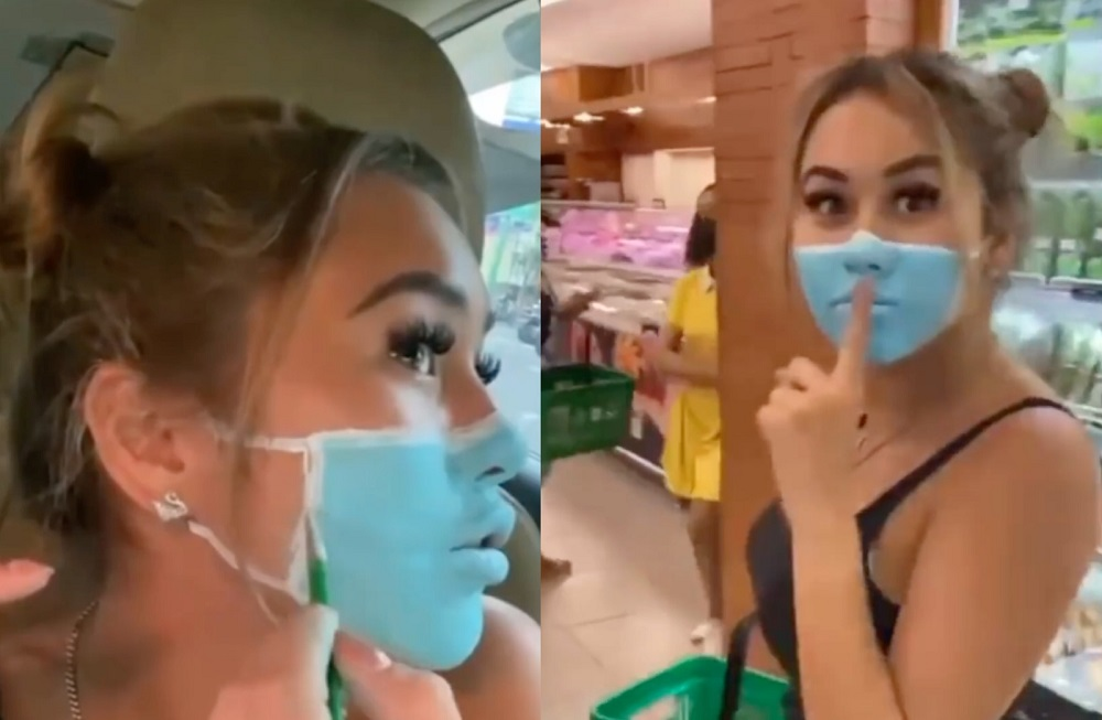Lin and Lisha (pic) are being investigated by Balinese authorities over the controversial video. — Screengrabs via Facebook/JoshPalerLin