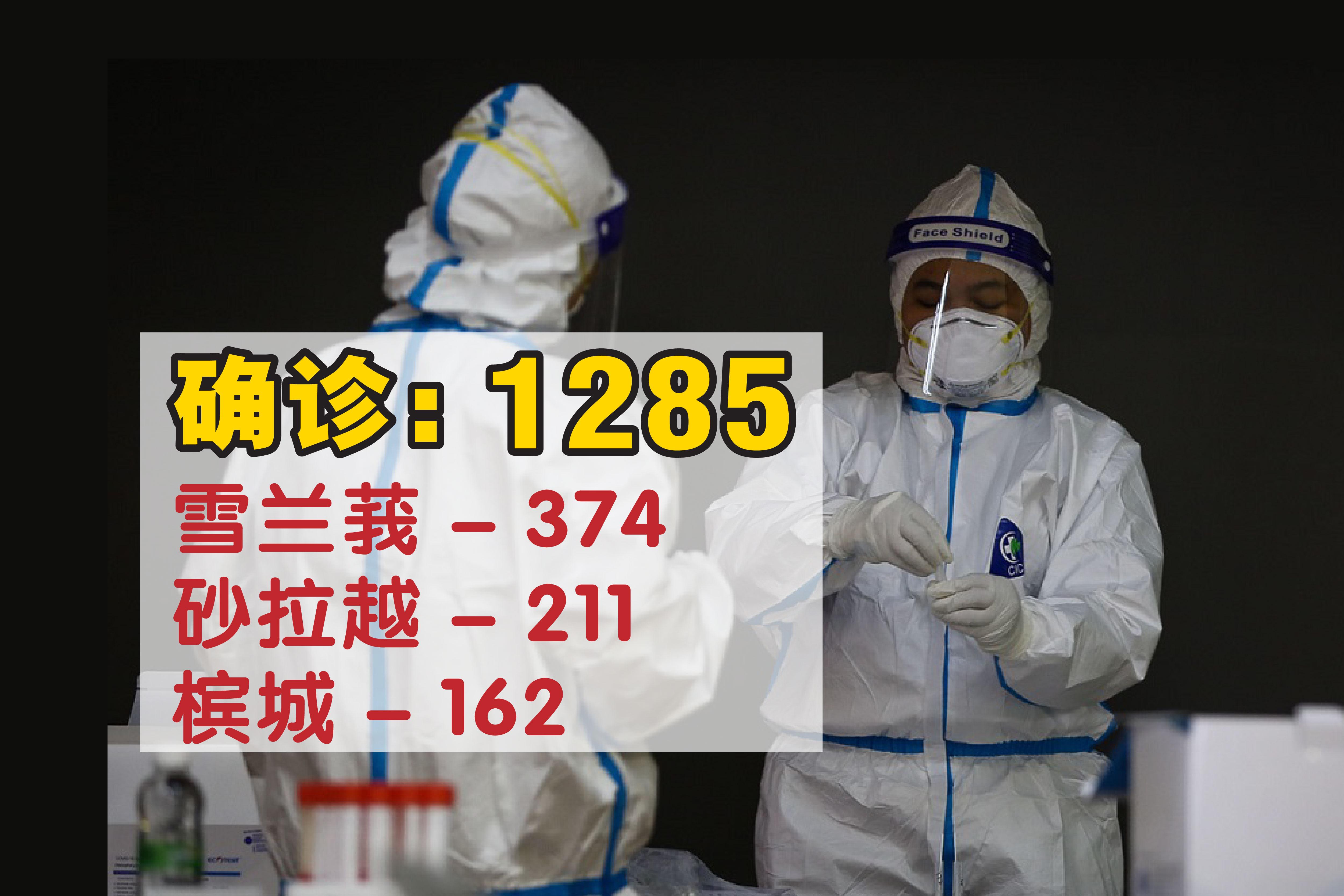 我国新冠病毒单日新增确诊病例微升,报1285宗。-Yusof Mat Isa摄-