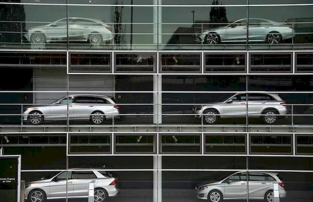 Luxury cars are displayed at a Munich car dealer, Germany, October 7, 2018. — Reuters pic