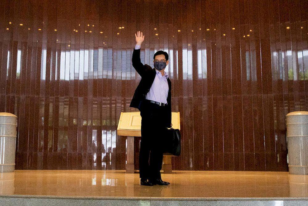 """王瑞杰是""""第四代领导班子""""的领袖人物,获选出任党内最高决策者,预测为未来出任人民行动党党魁、总理的热门人选。-图取自今日报-"""