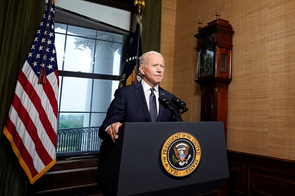 President Joe Biden has ordered a withdrawal of US troops from Afghanistan by September 11, the 20th anniversary of the al-Qaeda attacks on New York and Washington. ― Pool via Reuters