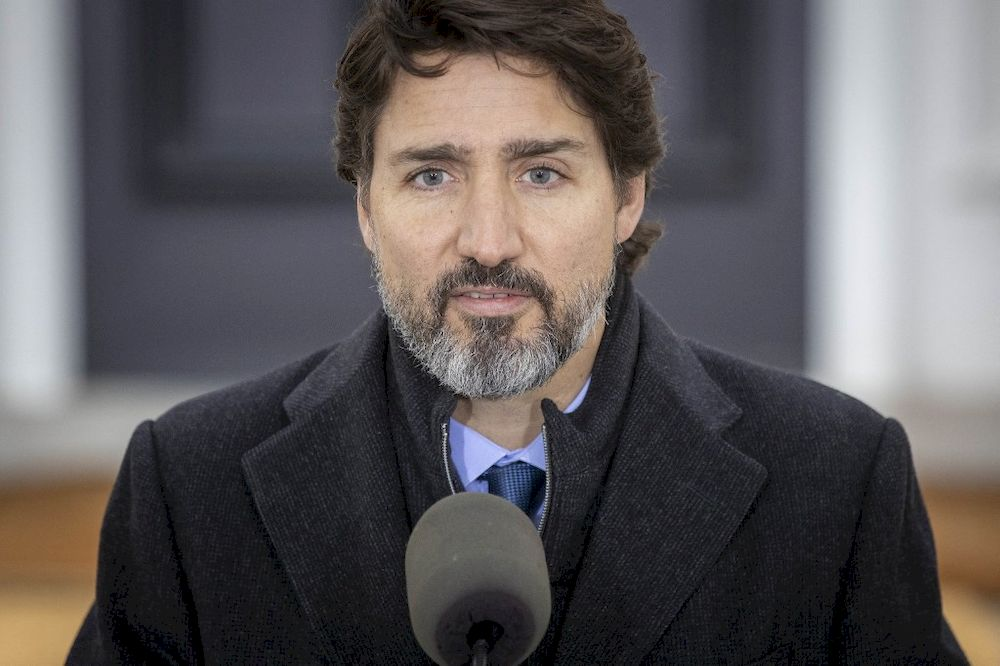 In this file photo taken on November 20, 2020 Canadian Prime Minister Justin Trudeau speaks during a Covid-19 pandemic briefing from Rideau Cottage in Ottawa. — AFP pic