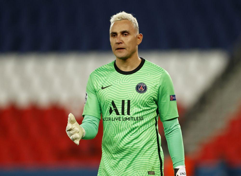 Paris St Germain's Keylor Navas during the match against Bayern Munich at the Parc des Princes, Paris, April 13, 2021. — Reuters pic