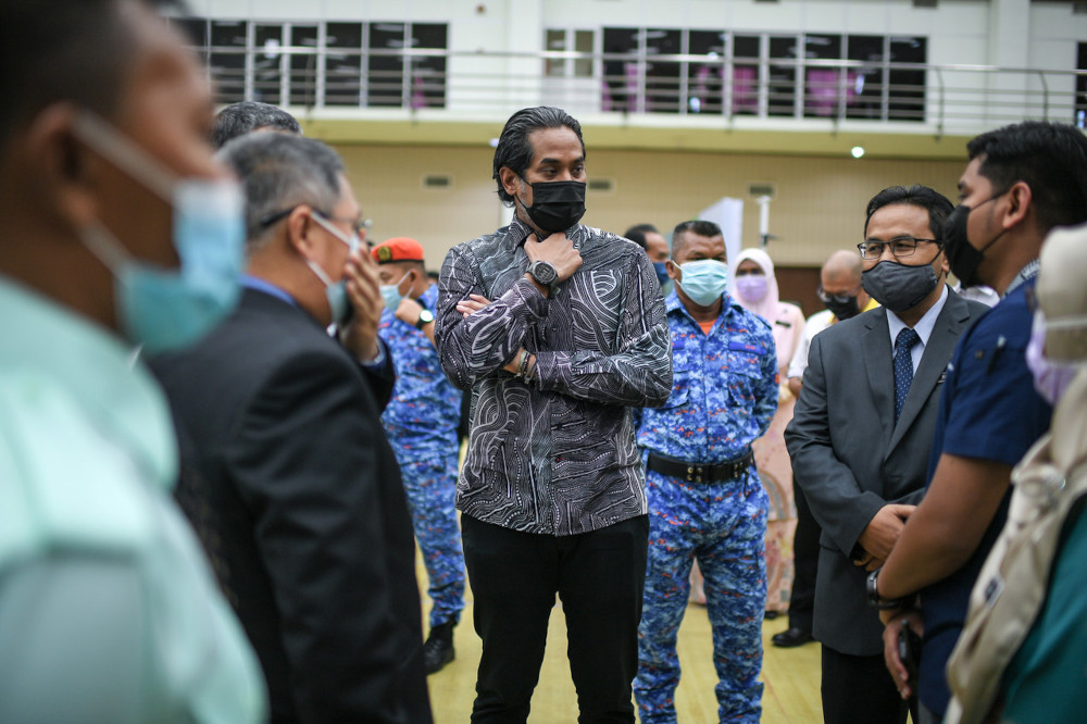 Khairy Jamaluddin said the discussion was deemed necessary after taking into consideration the public anxiety about the safety and efficacy of the AstraZeneca vaccine to be used in the immunisation programme. — Bernama pic