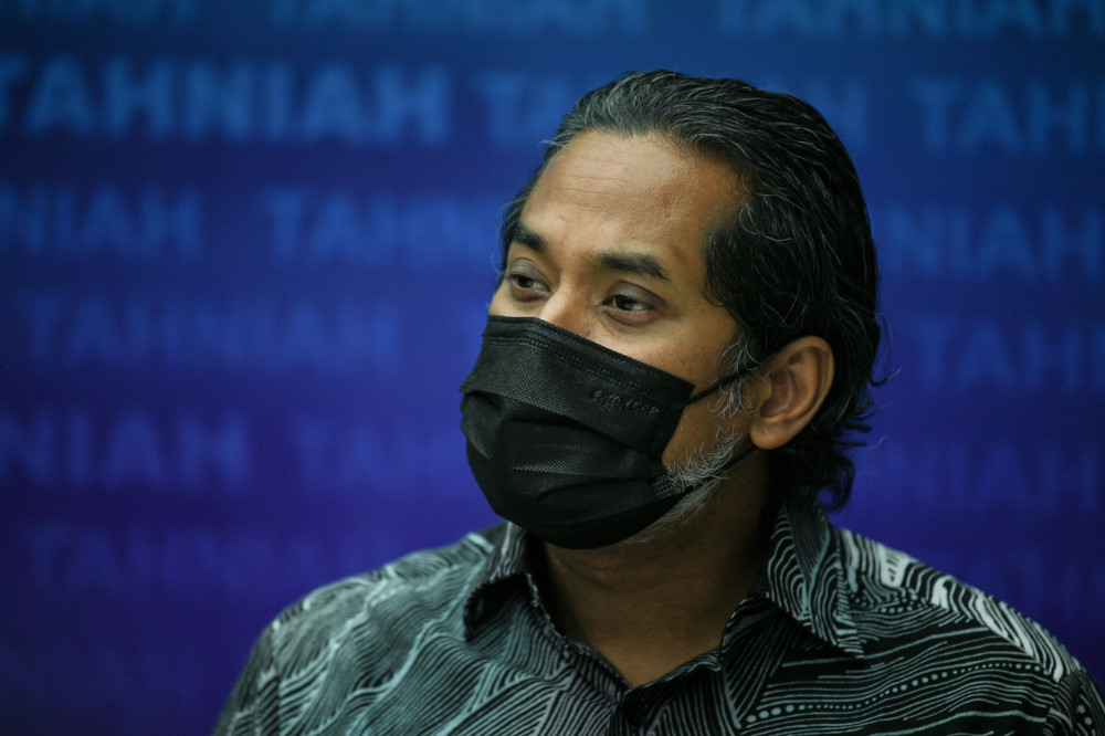 Khairy Jamaluddin says the government will not include the controversial AstraZeneca vaccine under the National Covid-19 Immunisation Programme. — Bernama pic