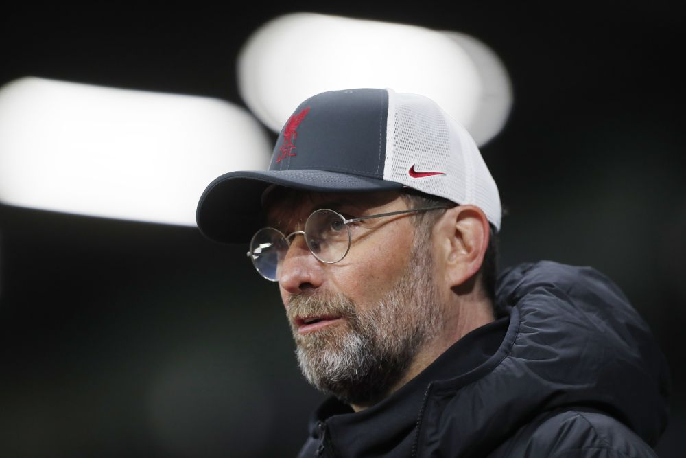 Liverpool manager Jurgen Klopp talks to the media after the match against Leeds United at Elland Road, Leeds April 19, 2021. — Reuters pic