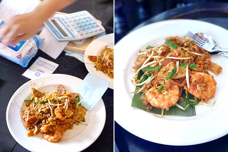 Freshly fried Penang 'char kway teow' is always worth the wait.