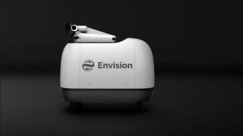 Mochi, the mobile EV recharging robot, will be on the streets of China in June. — Picture courtesy of Envision Group via ETX Studio